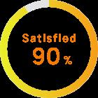 Satisfied 90%
