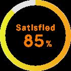Satisfied 85%